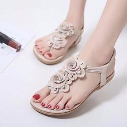 Giày sandal đế bệt nữ phối hoa - LN1267