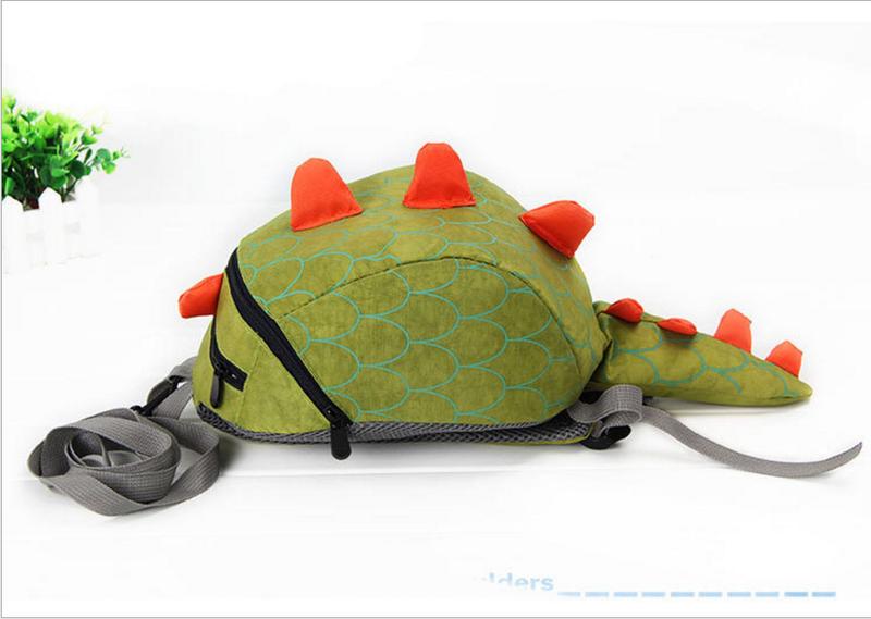 Ba lô cho bé tập đi hình khủng long dễ thương Xanh lá 1