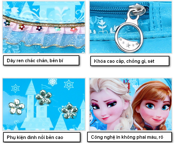 Balô đi học FROZEN công chứa Elsa đáng yêu cho bé gái QSTORE QS62 12