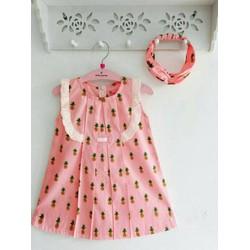 Đầm bé gái họa tiết trái cây xinh xắn