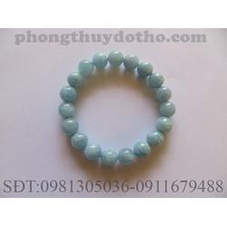Vòng tay đá Aquamarine màu xanh nước biển nhạt 11 ly