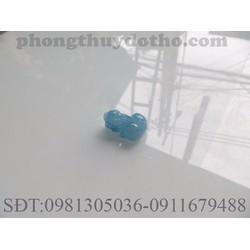 Mặt tỳ hưu đá Aquamarine màu xanh nước biển nhạt dài 1.9x1.4 cm