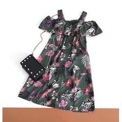 Đầm rớt vai hoa