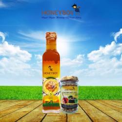 Mật Ong Thiên nhiên 5 Sạch Honeyboy 250ml và Nghệ đen mật ong 80g