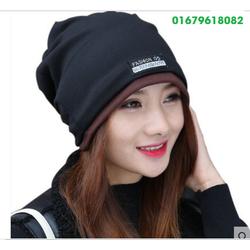 nón mũ chụp đầu đa năng, khăn đa năng Only girl  Hàn quốc HNN1150