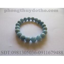 Vòng tay đá Aquamarine màu xanh nước biển nhạt 10 ly