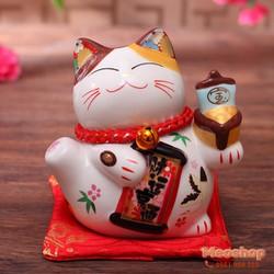 Mèo thần tài, mèo may mắn Maneki Neko MS35319 size 7 cm