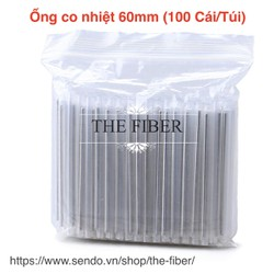 Bộ 100 Ống co nhiệt bảo vệ mối hàn sợi quang 60mm 100 Cái