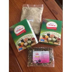 Combo 2 kg ngũ cốc tăng cân Cầu Bình An - tặng 1 gói trà Tâm Mẫu