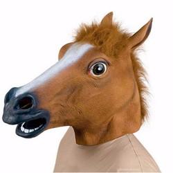 Mặt Nạ Đầu Ngựa Nâu Awesome