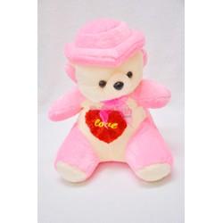 Gấu bông nón đứng màu hồng Pipobun size 40cm