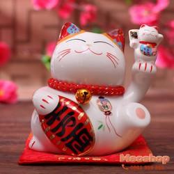 Mèo thần tài, mèo may mắn Maneki Neko MS35316 size 7 cm