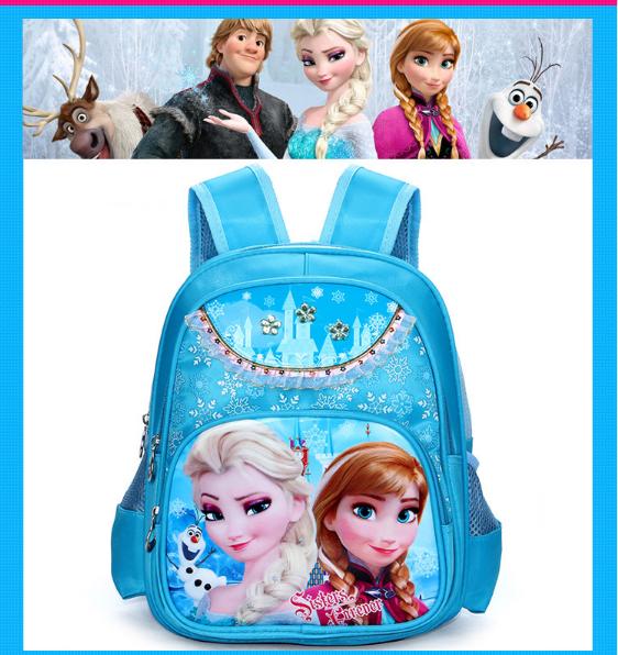 Balô đi học FROZEN công chứa Elsa đáng yêu cho bé gái QSTORE QS62 10