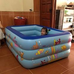 Bể bơi phao 1m5 cho bé thỏa thích vui chơi