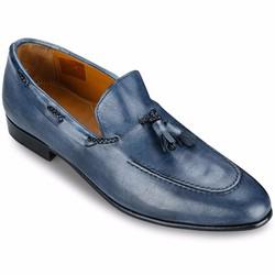Giày Da Pierre Cardin Blue Tassel Loafer