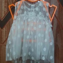 Áo ren lưới chấm bi hot thời trang cho bé gái