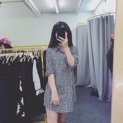 Đầm sơ mi form dài