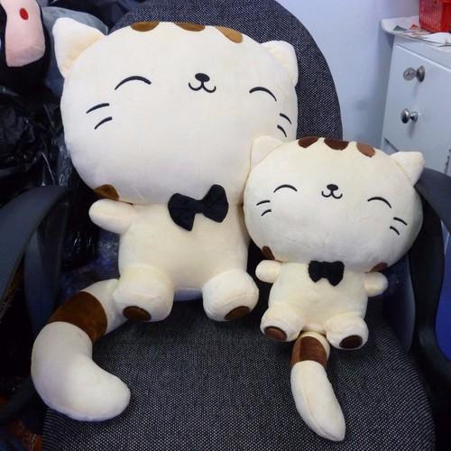 Bộ hai mèo meng meng nhồi bông size 45cm