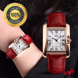 Đồng hồ nữ dây da chính hãng Skmei thiết kế phong cách mới nhất