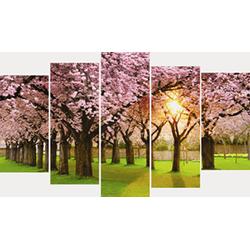 TRANH GHÉP ĐƯỜNG HOA ANH ĐÀO - TỔNG KÍCH THƯỚC 60X110CM