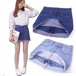Quần váy jeans trơn độc đáo dành cho các nàng