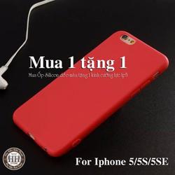 Ốp lưng Iphone 5 - Case Iphone 5 Silicon nhiều màu tặng kính cường lực