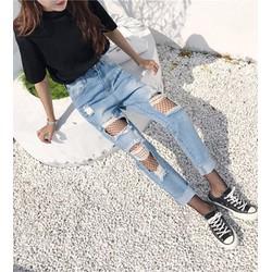 quần jeans nữ rách vuông Mã: QD1517