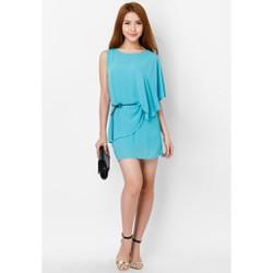 Đầm công sở màu xanh