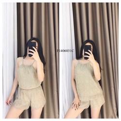 Set áo yếm nhũ quần short hàng nhập! Giá sỉ: 130k
