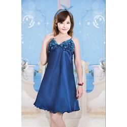 Đầm ngủ phi lụa nhiều màu MS50