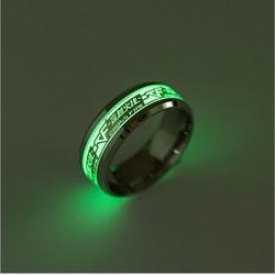 Nhẫn nam dạ quang phát sáng phong cách Âu Mỹ NN031