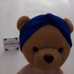 Băng đô turban cho mẹ và bé màu xanh coban