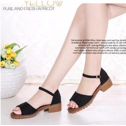 Sandal gót 2p bản ngang