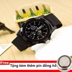 Đồng Hồ Dây Dù Quân Đội Army - Hàng công ty TẶNG KÈM PIN DỰ PHÒNG