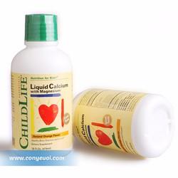 Vitamin cho bé ChildLife bổ sung canxi và kẽm 474ml