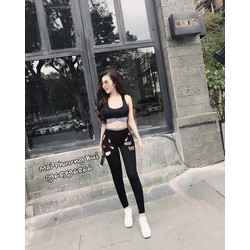 Set thể thao croptop in họa tiết