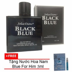 Nước hoa nam Jolie Dion Black Blue EDP 100ml + Nước hoa nam Him 5ml