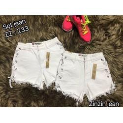 Quần shorts nữ màu trắng nhiều kiểu