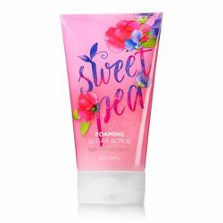 Gel tắm tẩy tế bào chết Bath Body Works Foaming Sugar Scrub Sweet Pea