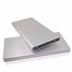 Pin sạc dự phòng siêu mỏng vỏ nhôm nguyên khối Power Bank 20000mah