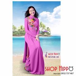 Vải may áo dài lụa hoa xinh- vải áo dài - vải, nguyên phụ liệu may mặc - shop hippo