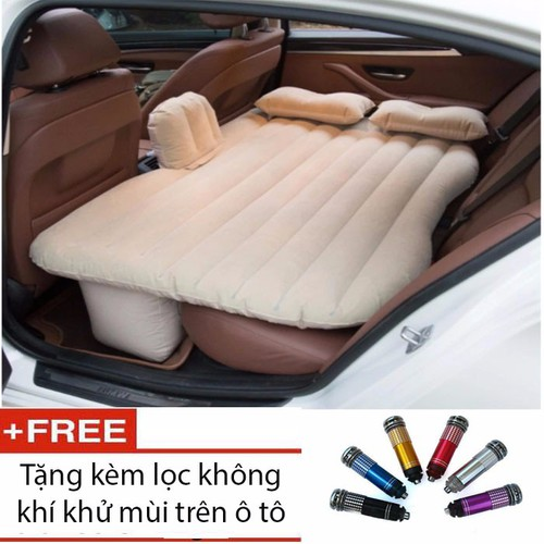 Worldmart nệm giường gối hơi ô tô cao cấp tặng máy bơm và lọc không khí