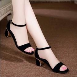 sandal đế vuông viền vàng