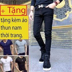 quần jean đen chỉ vàng q13 combo