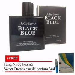 Nước hoa nam Jolie Dion Black Blue 100ml + Nước hoa nữ Sweet Dream 3ml