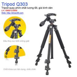 Chân máy quay, máy ảnh Tripod Q303 chuyên nghiệp
