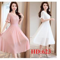 Đầm xòe tiểu thư cao cấp-HD623