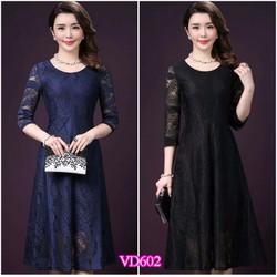 Đầm Xòe Ren Cao Cấp Thiết Kế Sang Trọng YKVD602