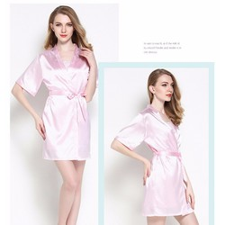 áo choàng kèm váy ngủ phi kín đáo TK836 hồng