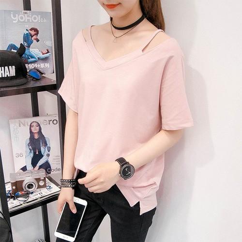 Áo kiểu nữ - Đen - Hồng - Trắng - A0055